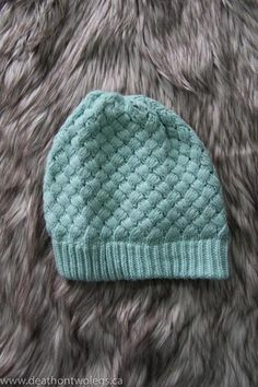 074a753dacf Mixed Knit Basketweave Toque - Dusty Blue