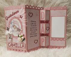 Dåp Baby Scrapbook, Baby Cards, Christening, Paper Crafts, Templates, Children, Birthday, Frame, Card Ideas