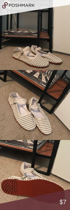 Black and Cream Canvas Mary Janes These black and cream patterned canvas Mary Janes are originally from Urban Outfitters. The brand on the bottom says Hao Yu. These have never been worn, but they no longer have the tags on them Urban Outfitters Shoes Flats & Loafers