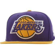 14684280fd0 Mitchell And Ness Los Angeles Lakers STA3 Wool Snapback Cap (purple   gold)  NJ16Z