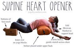 Pin it! Heart opening yin pose.