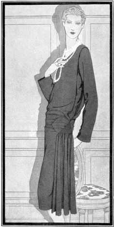 Robe de LouiseBoulanger - 1927 (Vogue)  A l'origine de la petite robe noire - Le blog de Cameline