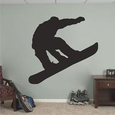 Snowboarding  Snowboarder  Sports Room Vinyl by SweetumsSignatures, $7.00