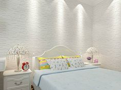 Yanqiao 1pcs 3D Selfadhesive Waterproof Wall Stickers Children Room Wedding Background Wallpaper * Read more reviews of the product by visiting the link on the image.