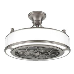 Stile Anderson 22 in. LED Indoor/Outdoor Brushed Nickel Ceiling Fan with Remote Control - CF0110 - The Home Depot
