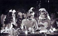 "Back lit southern Bunnys!  Dallas Playboy Club, 1977. To the Photographer: ""Nice shootin, Tex!"""