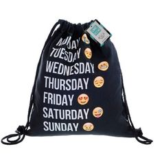 Emoji Drawstring Backpack Brand new drawstring emoji backpack that has never been used and is in perfect brand new condition. Super fun! #fabulous Bags Backpacks