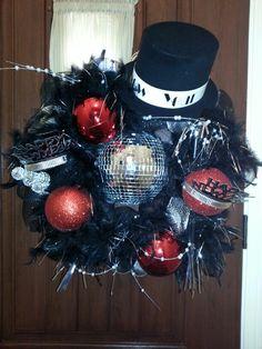 New Year's wreath