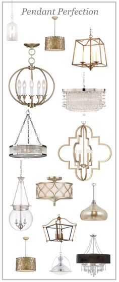 New today. I LOVE all of the gold pendant and am seriously thinking about them (lusting after them) for over my kitchen island