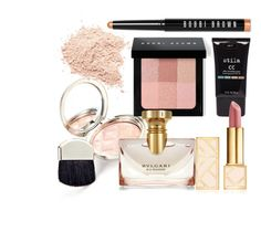 """""""Rose Gold Hue"""" by the17thsummer ❤ liked on Polyvore featuring beauty, By Terry, Bobbi Brown Cosmetics, Stila, Bulgari and Tory Burch"""