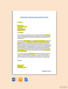 Free Contract Recruiter Cover Letter Template #AD, , #PAID, #Recruiter, #Contract, #Free, #Template, #Letter Cover Letter Template, Cover Letter For Resume, Letter Templates, Cover Letters, Templates Free, Finance, Presentation Design Template, Ppt Presentation, Job Posting