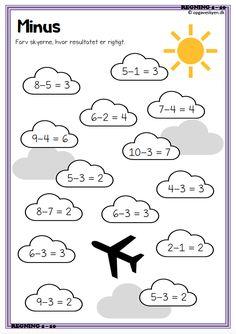 matematikopgaver, matematik matematik indskoling, plus minus - Mathe Ideen 2020 Kindergarten Math Worksheets, Math Activities, Preschool Activities, Math Lesson Plans, Math Lessons, Learn Dutch, Math Pages, Math Sheets, Kids Calendar
