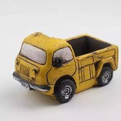 Molde de Vaso Caminhonete Ref 761 Wooden Toys, Car, Soap Holder, Barrel, Jars, Vases, Molde, Wooden Toy Plans, Wood Toys