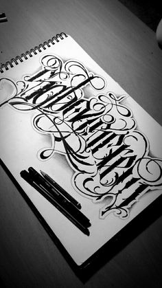 Calligraphy Tattoo, Tattoo Lettering Fonts, Calligraphy Signs, Types Of Lettering, Lettering Design, Alphabet Symbols, Hand Lettering Alphabet, Graffiti Tattoo, Graffiti Lettering