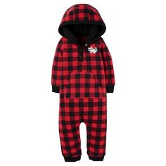 123711e2d Baby Boys' Fleece Hooded Plaid Raccoon Jumpsuit Just One You™ Made by  Carter's®