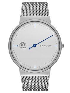 SKAGEN ANCHER | SKW6193 Stainless Steel Bracelet, Stainless Steel Mesh, Mesh Bracelet, Cool Watches, Watches For Men, Wrist Watches, Skagen, Mesh Band, Clock