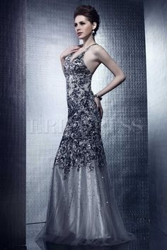 Amazing Mermaid/Trumpet Floor-Length Straps Beading Nadya's Evening Dress