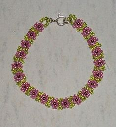 Beaded Daisy Chain - Step-by-Step instructions for seed bead bracelet of Daisy Chain