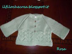 IL FILO CHE CREA: knitted  top down cardi for a little baby.