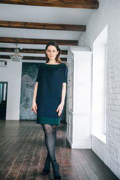 Платье UONA (сине-зеленое)