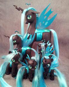 Queen Chrysalis custom ponies x6 - MLP:FiM by hannaliten.deviantart.com on @deviantART