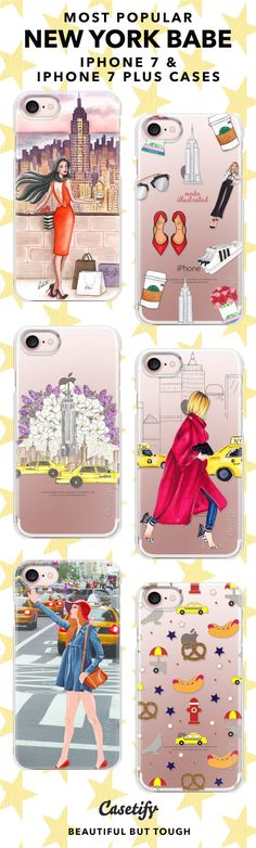 """""""New York is the City that other cities can only Dream of Being.""""      Most Popular New York Babe iPhone 7 Cases and iPhone 7 Plus Cases. For more New York City Cases, shop them here ☝☝☝ BEAUTIFUL BUT TOUGH ✨ - Photography, Travel, City, USA, America, NYC, 4th July, Broadway, Food, Fireworks"""