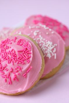 Soft frosted sugar cookies- like the kind from the grocery store in the plastic container, but better