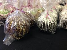 Caramel apples!! Oreo, Reese's Pieces, Snickers, m&ms and reg milk chocolate and white chocolate apples!!