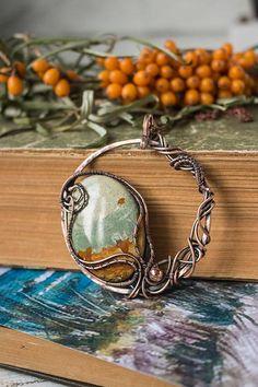 Jasper necklace Bohemian necklace Wire stone pendant Wire wrap #wirewrap #wireart #wirecraft #shopping #onlineshopping #buyonetsy #buyonline #pendants #necklaces #necklaceoftheday #necklacependant #necklaceforsale #jewelryoftheday #jewelryforsale #jewelryforwomen #giftsforher #giftideasforher #giftinspiration #jasper #landscape