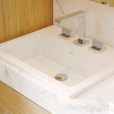 Deca L 730 cuba quadrada com mesa Deca