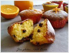 muffin all'arancia senza glutine (io ho usato farina di riso e farina di mandorle e mi sono venuti buonissimi!)
