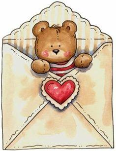 .teddy in an envelope