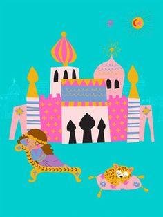 "Oopsy daisy, Fine Art for Kids presents Disney® ""It's a Small World - Palace Princess"" kids wall decor $119"