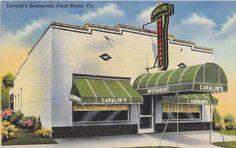Cavalin's Restaurant, Front Royal, VA 1948