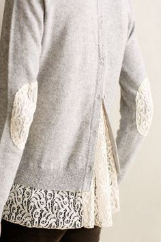 Lace-Parted Pullover - anthropologie.com