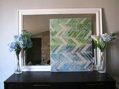 DIY Painting Crafts: DIY:herringbone painting