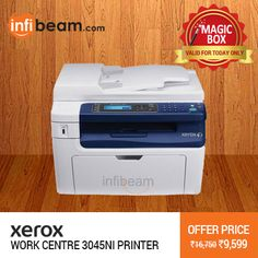 Xerox Work Centre 3045NI Printer at Lowest Rate from Infibeam's MagicBox !  Assuring Lowest Price in Magic Box Deals !   HURRY OFFER VALID FOR TODAY ONLY !!  #MagicBox #Deals #DealOfTheDay #Offer #Discount #LowestRates #Xerox #Printer #Scanner #Electronics #OfficeEquipment #ComputerAccessories