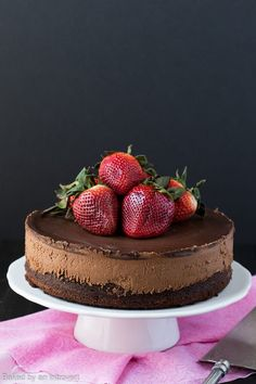 Triple chocolate Mousse Cake is the perfect light dessert recipe. Its made with a chocolate cake base, cool creamy mousse filling and topped with rich dark chocolate ganache. Light Dessert Recipes, Light Desserts, Just Desserts, Gourmet Desserts, Triple Chocolate Mousse Cake, Chocolate Desserts, Chocolate Cake, Chocolate Filling, Decadent Chocolate