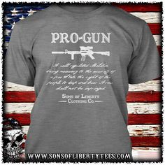Pro-Gun Second Amendment T-Shirt.  #2Nda #3Percent #Colddeadhands #Conservative #Gunrights #Guns #Livefreeordie #Merica #Patriot #Pewlife #Righttobeararms #Sonsoflibertytees