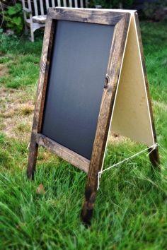 Double Sided Chalkboard 36x20, Rustic Chalkboard, Chalkboard Frame,Reclaimed Wood,Menu Board, Kid's Playroom, Outdoor Chalkboard, Blackboard