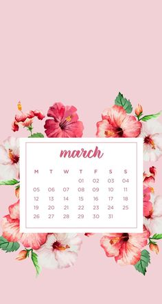 March Spring/Floral Phone WallpapersHere are some monthly phone wallpapers with matching desktop wallpapers. I created versions starting on Monday and Sunday so you can pick the one you use more...