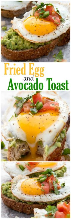Sunny side up just got even better with this amazing Fired Egg and Avocado Toast. | healthy recipe ideas @xhealthyrecipex |