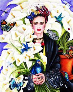 Arte de pared de impresión de Frida Kahlo Frida Kahlo Frida