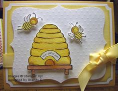 {sweet bees} by scrappin*bee - Cards and Paper Crafts at Splitcoaststampers