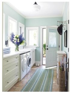 laundry room...home from the beach room and pool room all in one...