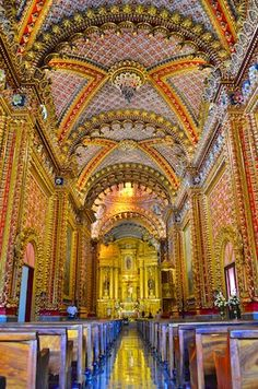 Sanctuario de Guadelupe church - WOW!!  More: http://roadslesstraveled.us/morelia-mexico-cathedral-living-aboard-blog/  Walking inside this church was like walking into a jewel box..!