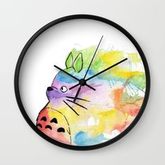 My Rainbow Totoro Wall Clock
