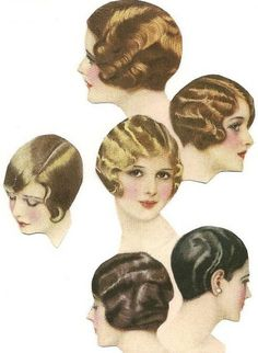 Vintage Hairstyles Fingerwave styles - The closely styled crops, boyish bobs, and Gatsby hair of the are adorable, but a retro look can be intimidating. I hope to inspire you to create a look that's both classic and cutting edge. Flapper Hair, Gatsby Hair, Flapper Dresses, Look Vintage, Vintage Beauty, Vintage Makeup, Retro Hairstyles, Wedding Hairstyles, Wave Hairstyles