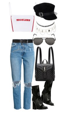 """""""Untitled #3254"""" by bekahtee ❤ liked on Polyvore featuring Yves Saint Laurent, MSGM, Topshop, Charlotte Russe and River Island"""