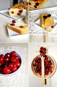 sweetbread with honey and caramelized cherries